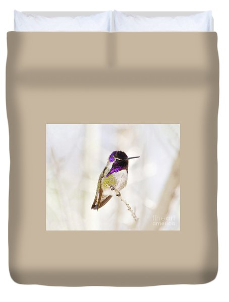 Hummingbird Duvet Cover by Rebecca Margraf