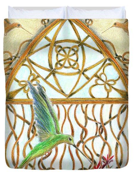 Hummingbird Sanctuary Duvet Cover