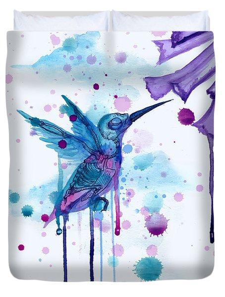Hummingbird Skeleton 2.0 Duvet Cover