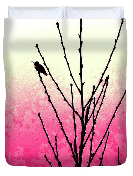 Hummingbird Valentine Duvet Cover