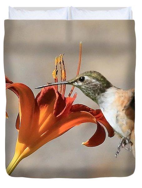 Hummingbird Whisper  Duvet Cover