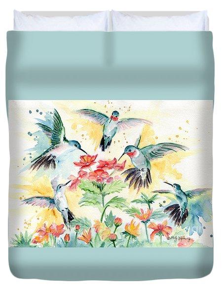 Hummingbirds Party Duvet Cover