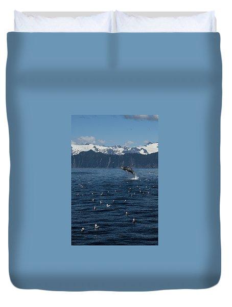 Humpback Whale Breach 3.1. Mp Duvet Cover
