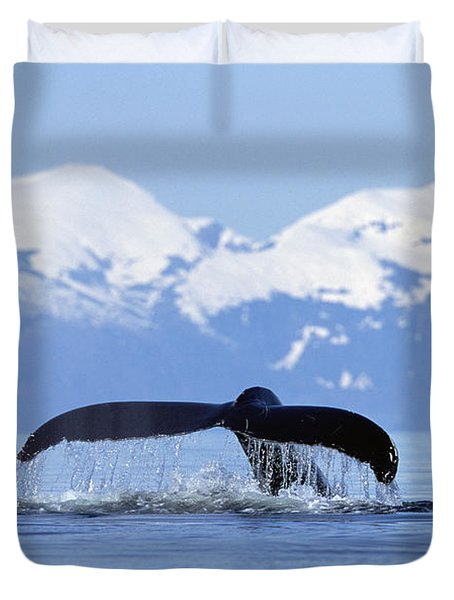 Duvet Cover featuring the photograph Humpback Whale Megaptera Novaeangliae by Konrad Wothe