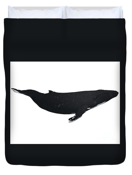 Humpback Whale Profile Duvet Cover by Corey Ford
