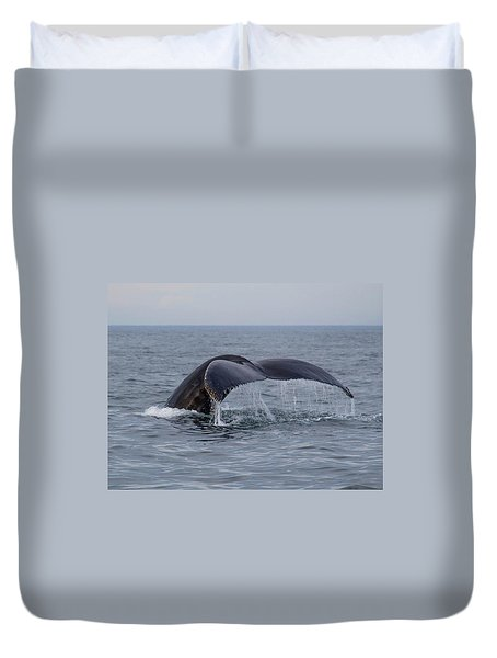 Duvet Cover featuring the photograph Humpback Whale by Trace Kittrell