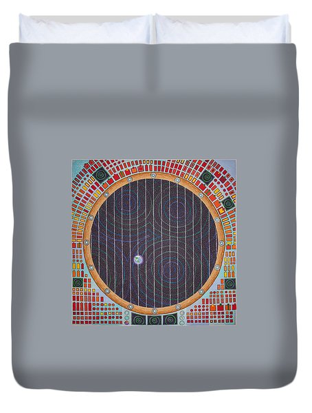 Hundertwasser Shuttle Window Duvet Cover