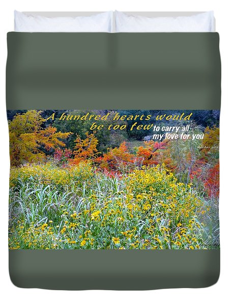 Duvet Cover featuring the photograph Hundred Hearts by David Norman