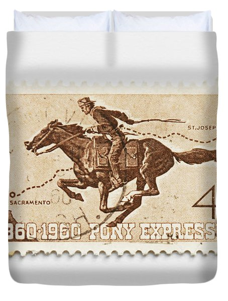 Hundred Years Pony Express Duvet Cover
