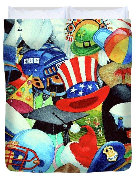 Hundreds Of Hats Duvet Cover by Hanne Lore Koehler