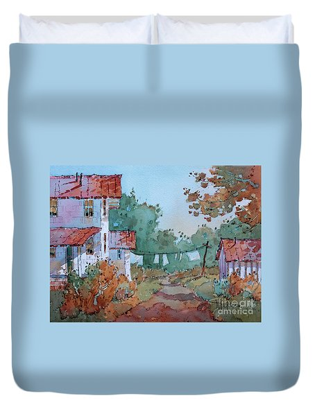 Hung Out To Dry Duvet Cover