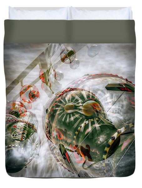 Duvet Cover featuring the photograph Hung Up And Strung Out by Wayne Sherriff