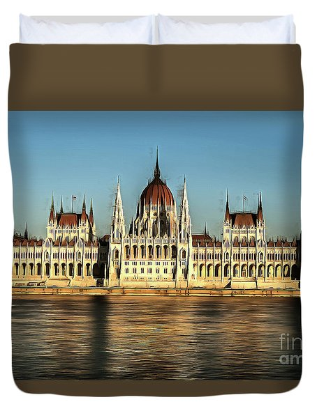 Hungarian National Parliament Duvet Cover