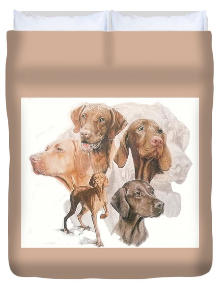 Hungarian Vizsla W/ghost Duvet Cover by Barbara Keith