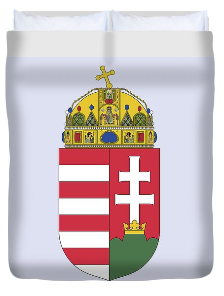 Hungary Coat Of Arms Duvet Cover by Movie Poster Prints