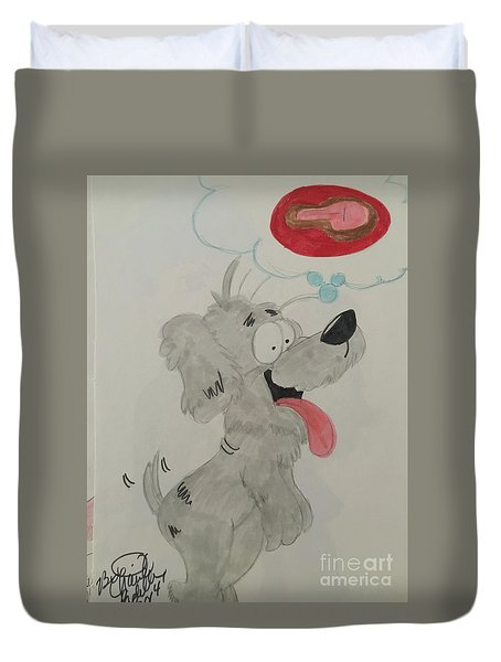 Hungry Dog Duvet Cover