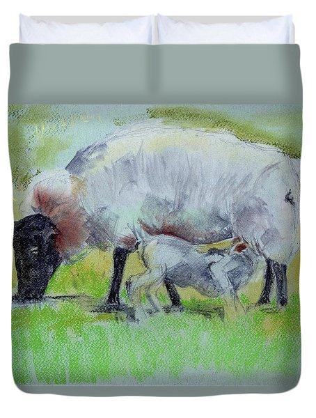 Hungry Lamb Duvet Cover