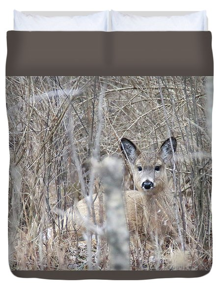 Hunkered Down Duvet Cover by Brook Burling