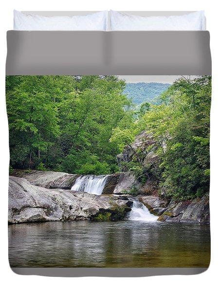 Hunt Fish Falls Duvet Cover