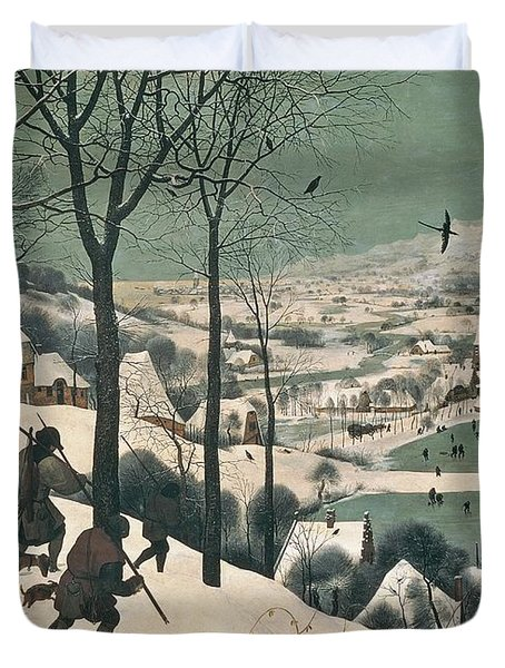 Hunters In The Snow Duvet Cover by Pieter the Elder Bruegel