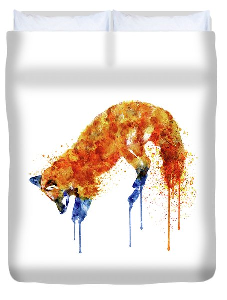 Hunting Fox  Duvet Cover by Marian Voicu