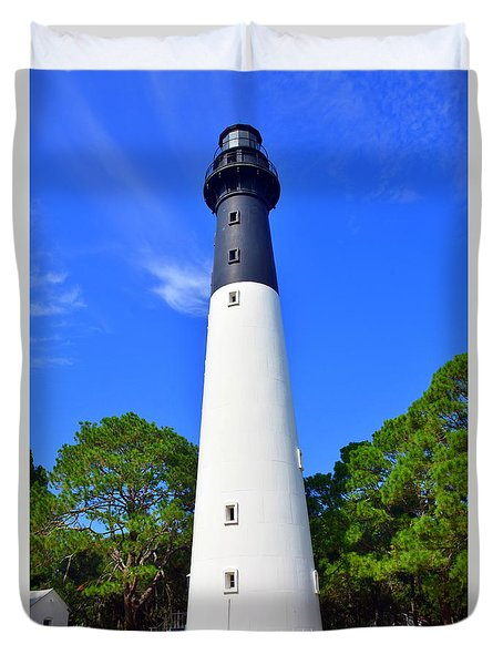 Hunting Island Lighthouse Beaufort Sc Duvet Cover