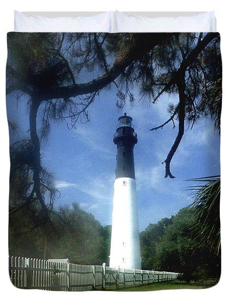 Hunting Island Lighthouse Sc Duvet Cover