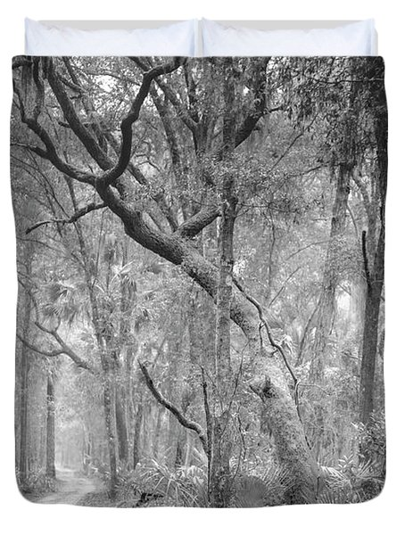 Hunting Island Path  Duvet Cover by Phill Doherty