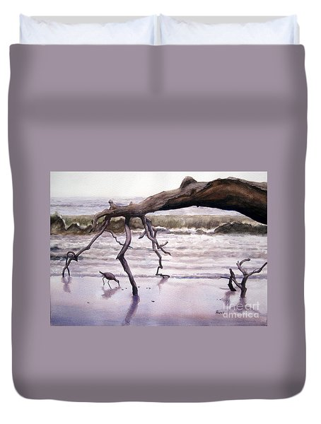 Hunting Island Sculpture Duvet Cover