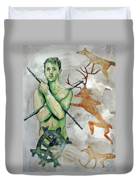 Youth Hunting Turtles Duvet Cover