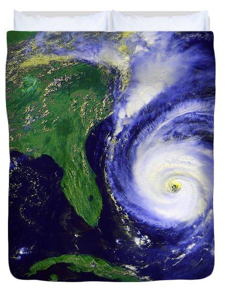 Hurricane Fran Duvet Cover