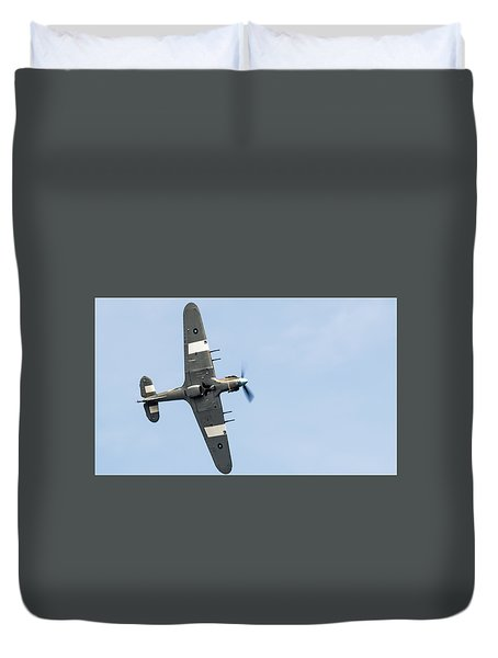 Duvet Cover featuring the photograph Hurricane From Below Sunderland Air Show 2014 by Scott Lyons