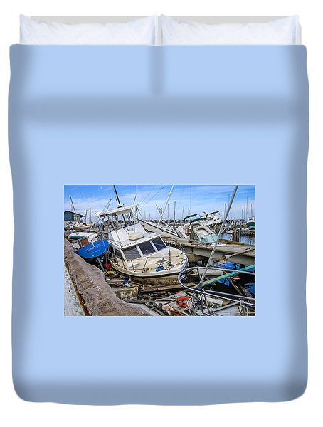 Hurricane Katrina Damage Duvet Cover