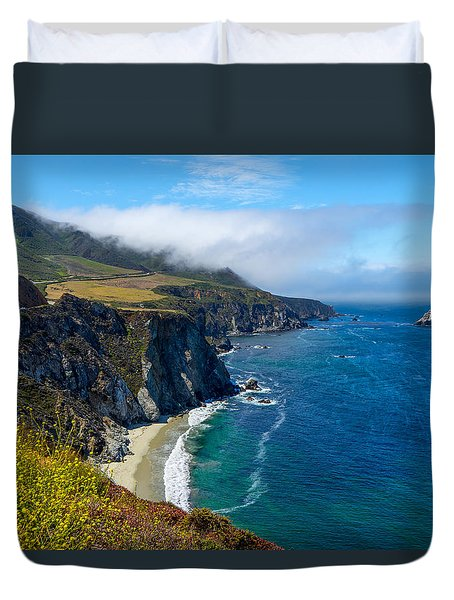 Hurricane Point In The Clouds Duvet Cover by Derek Dean