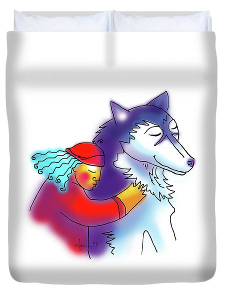 Husky Love Duvet Cover