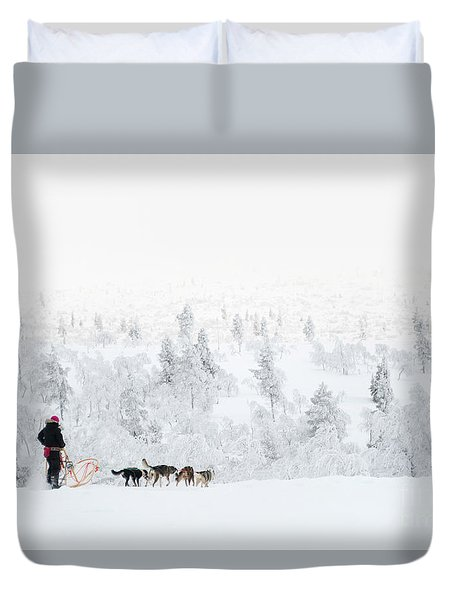 Husky Safari Duvet Cover by Delphimages Photo Creations