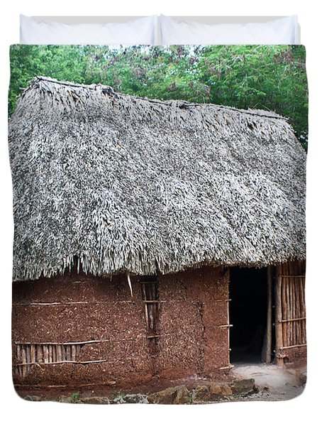 Hut Yucatan Mexico Duvet Cover