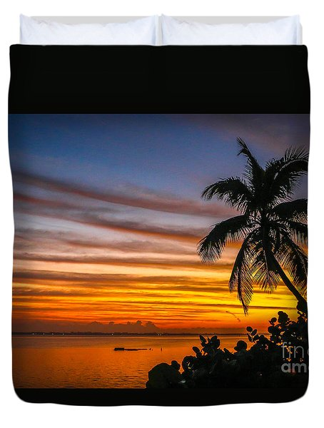 Hutchinson Island Sunrise #1 Duvet Cover