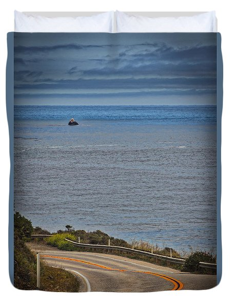 Duvet Cover featuring the photograph Hwy 1 by Mitch Shindelbower