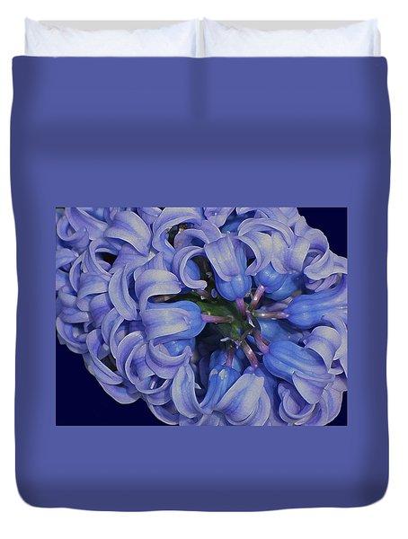 Hyacinth Curls Duvet Cover by Lynda Lehmann