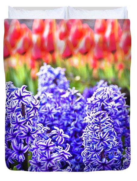 Hyacinth In Bloom Duvet Cover by Tamyra Ayles