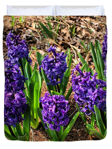 Duvet Cover featuring the photograph Hyacinth by Rick Friedle