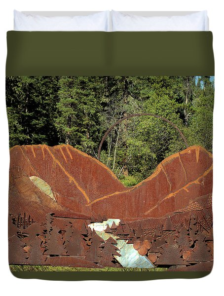 Hyalite Canyon Sculpture Duvet Cover