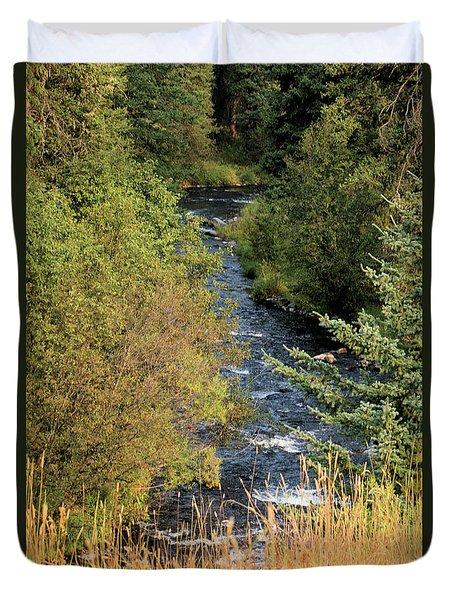 Hyalite Creek Overlook Duvet Cover