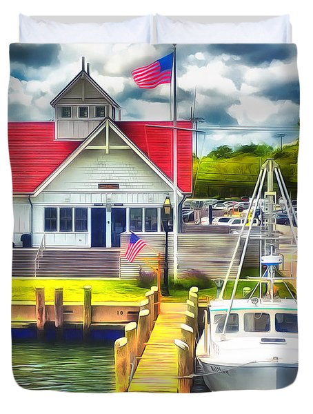 Hyannis The Coastguard Duvet Cover
