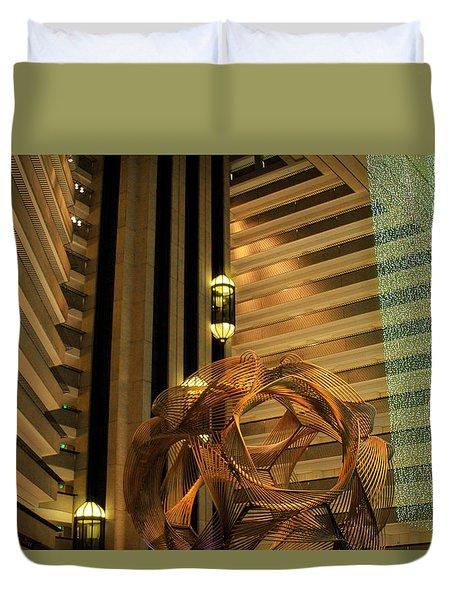Hyatt Regency Sf Atrium Duvet Cover