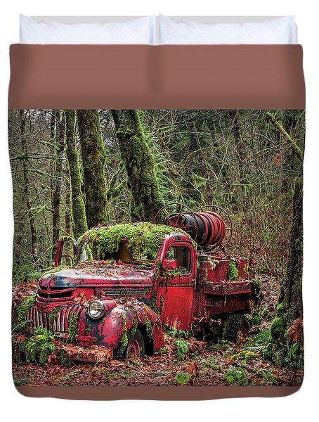 Hybrid Fire Truck Duvet Cover