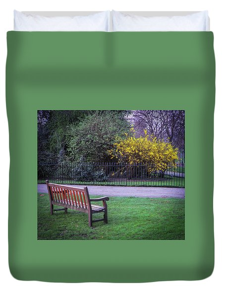 Hyde Park Bench - London Duvet Cover