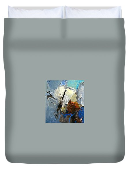 Duvet Cover featuring the painting Hydra- Igneous Flame  by Cliff Spohn