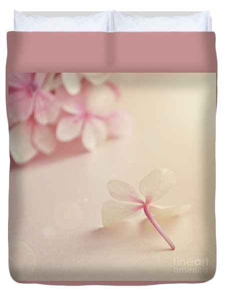 Duvet Cover featuring the photograph Hydrangea Flower by Lyn Randle